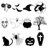 Halloween blanco y negro Imagen de archivo libre de regalías