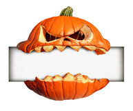 Halloween Blank Sign Stock Photography