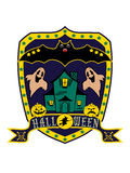 Halloween blazon, isolated Royalty Free Stock Image