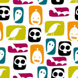 Halloween Blocks Seamless Vector Pattern Royalty Free Stock Photo