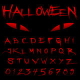 Halloween Blood Alphabet Royalty Free Stock Photography