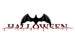 Halloween - bat on the bloody word royalty free illustration