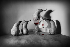 Halloween bloody pears Royalty Free Stock Images