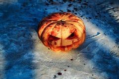 Halloween bloody pumpkin Stock Photos