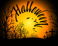 Halloween Bloody Text Background Stock Image