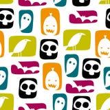 Halloween bloquea el modelo inconsútil del vector Foto de archivo libre de regalías