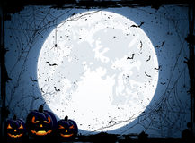 Halloween blue background Stock Photography
