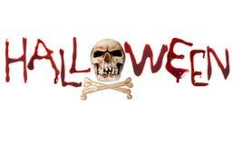 Halloween bokstäver Royaltyfria Bilder