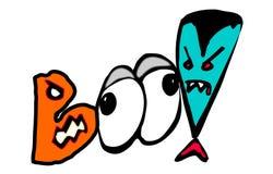 Halloween Boo Eyes et Dracula Photos stock