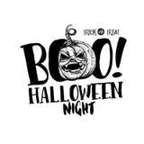 Halloween Boo label Stock Photography