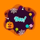 Halloween Boo Papercut Concept illustration libre de droits