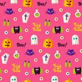 Halloween Boo Seamless Pattern Photographie stock