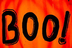 Halloween Boo Sign Stock Photography
