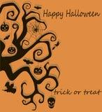 Halloween-boomdecoratie Stock Afbeelding