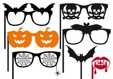 Halloween booth props, vector Stock Image