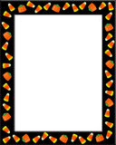 Halloween Border Candy Corn  Stock Photography