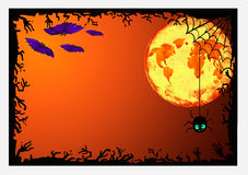 Halloween border for design Royalty Free Stock Photo