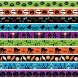 Halloween border patterns Stock Photo
