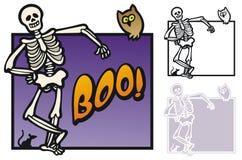 Halloween border with skeleton Stock Image