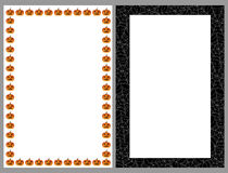Halloween borders frames Stock Photos