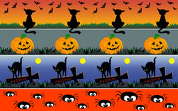 Halloween borders Stock Images