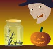 Halloween In bottiglia-in su   Illustrazione Vettoriale