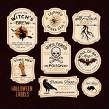 Halloween Bottle Labels. Potion Labels. Vector Illustration vector illustration