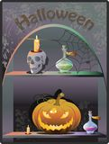 Halloween Boutique Background Royalty Free Stock Image