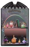 Halloween-Boutiqueachtergrond Stock Fotografie