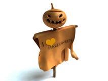 Halloween boy. Halloween monster with  light pumpkin Stock Photo