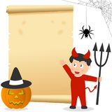 Halloween Boy Invitation Card Royalty Free Stock Image