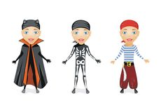 Halloween boys Stock Images