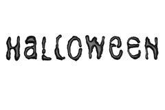 Halloween - Bratenfett-Buchstaben - Schwarzes Lizenzfreies Stockfoto