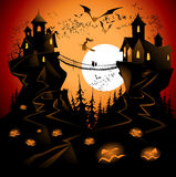 Halloween bridge Royalty Free Stock Photos