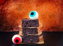 Halloween Brownies Stock Photography