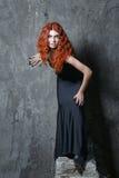 Halloween, bruja, vampiro Foto de archivo libre de regalías