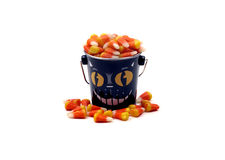 Halloween - Bucket of Candy Corn Royalty Free Stock Photos