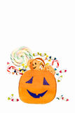Halloween Bucket - with clipping path Stock Image
