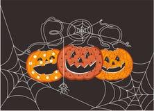 Halloween-Buh zu Ihnen Kürbise Stockbilder