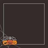 Halloween-Buh zu Ihnen Kürbishintergrund Stockfoto