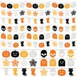 Halloween-bunting Stock Foto's