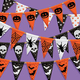 Halloween bunting background Royalty Free Stock Photos