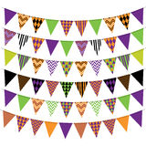 Halloween Bunting Banner Collection Stock Photography