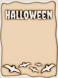 Halloween burned paper background Royalty Free Stock Image