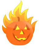 Halloween burning pumpkin illustration Royalty Free Stock Photo