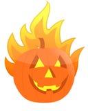 Halloween burning pumpkin illustration. Design Royalty Free Stock Photo