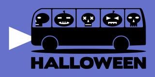 Halloween-bus Stock Afbeeldingen