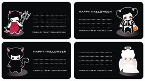 Halloween business cards vector illustration