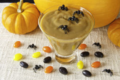 Halloween Butterscotch Pudding Stock Image