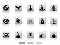 Halloween button icons set Royalty Free Stock Images